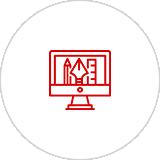 美术创意设计、形象界面设计、CSS+DIV前台结构布局设计、SEO优化。
